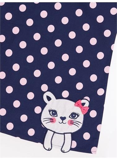 Denokids Simli Kedi Kız Elbise Renkli